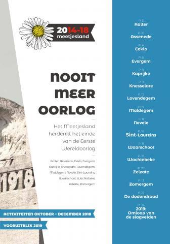 Brochure Nooit meer Oorlog